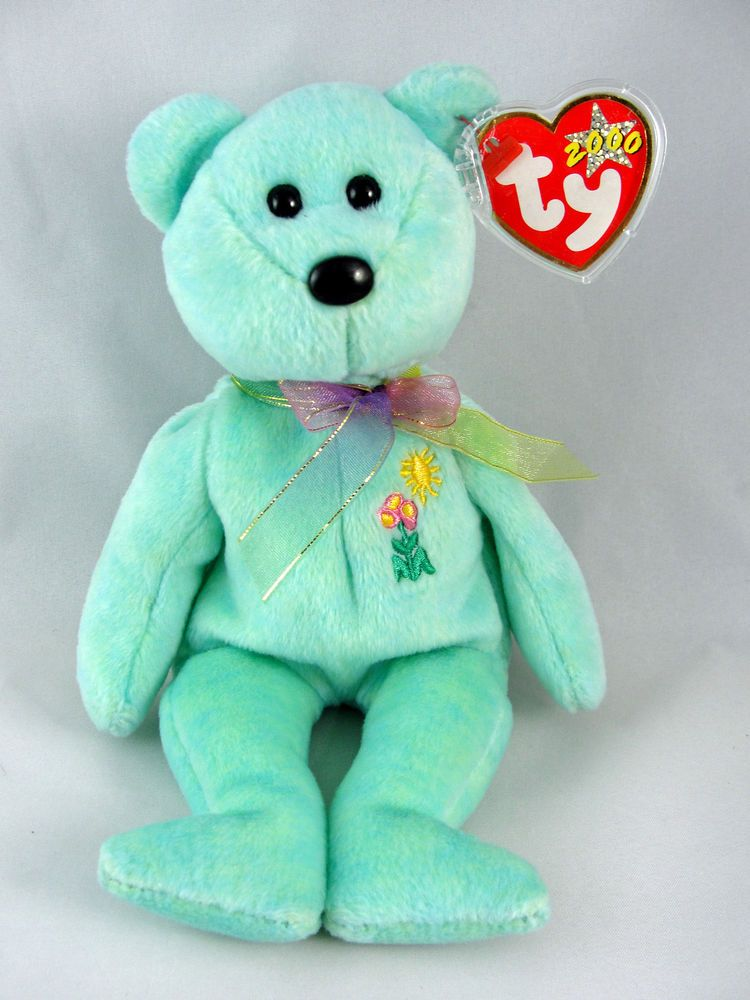 "Ty Beanie Baby /""Ariel/"" the Bear 2000 Series Brand New w//Mint Tags"