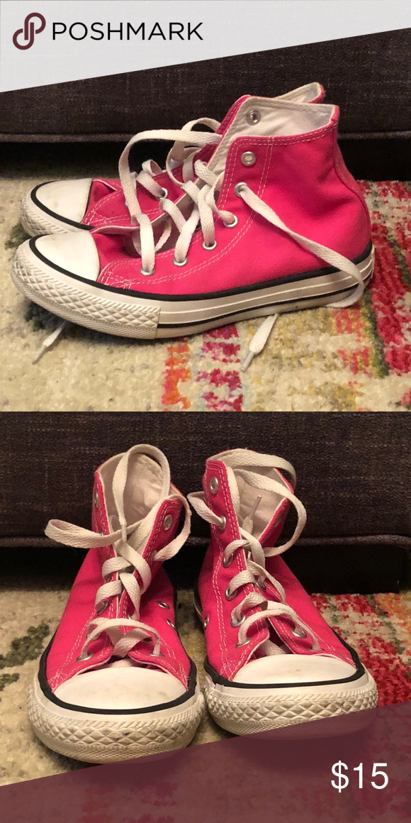 3110c1ba3645 Girls Converse Pink High Tops. Converse all stars. Gently used Converse  Shoes Sneakers