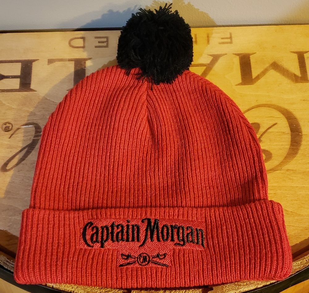 8cadde9edef Brand New Captain Morgan Knit Hat - Beanie - Cap - Red and Black  fashion