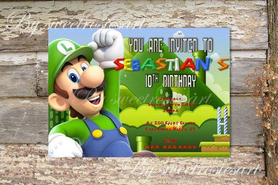 Mario or luigi birthday invitation digital by sweetrosiesart mario or luigi birthday invitation digital by sweetrosiesart filmwisefo