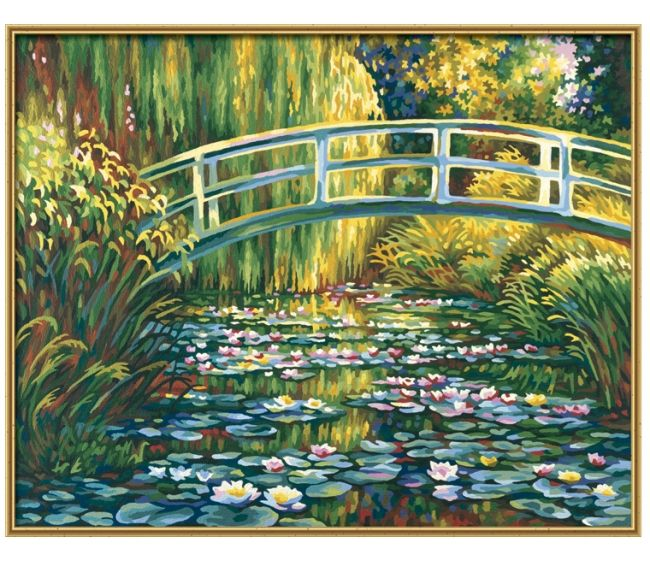 Раскраска по номерам Schipper репродукция пруд с лилиями ...