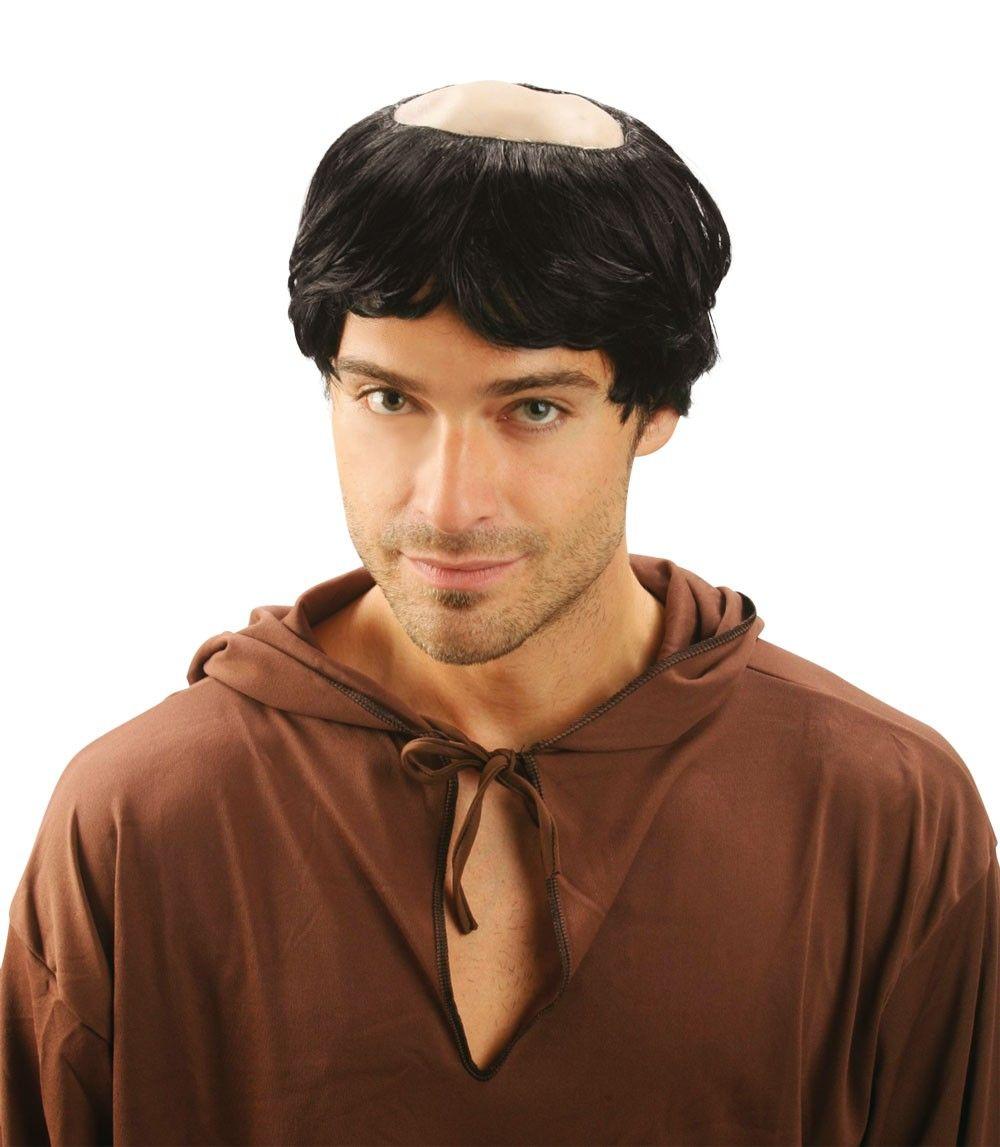 Monch Perucke Mit Halbglatze Perucken Glatze Kopfbedeckung
