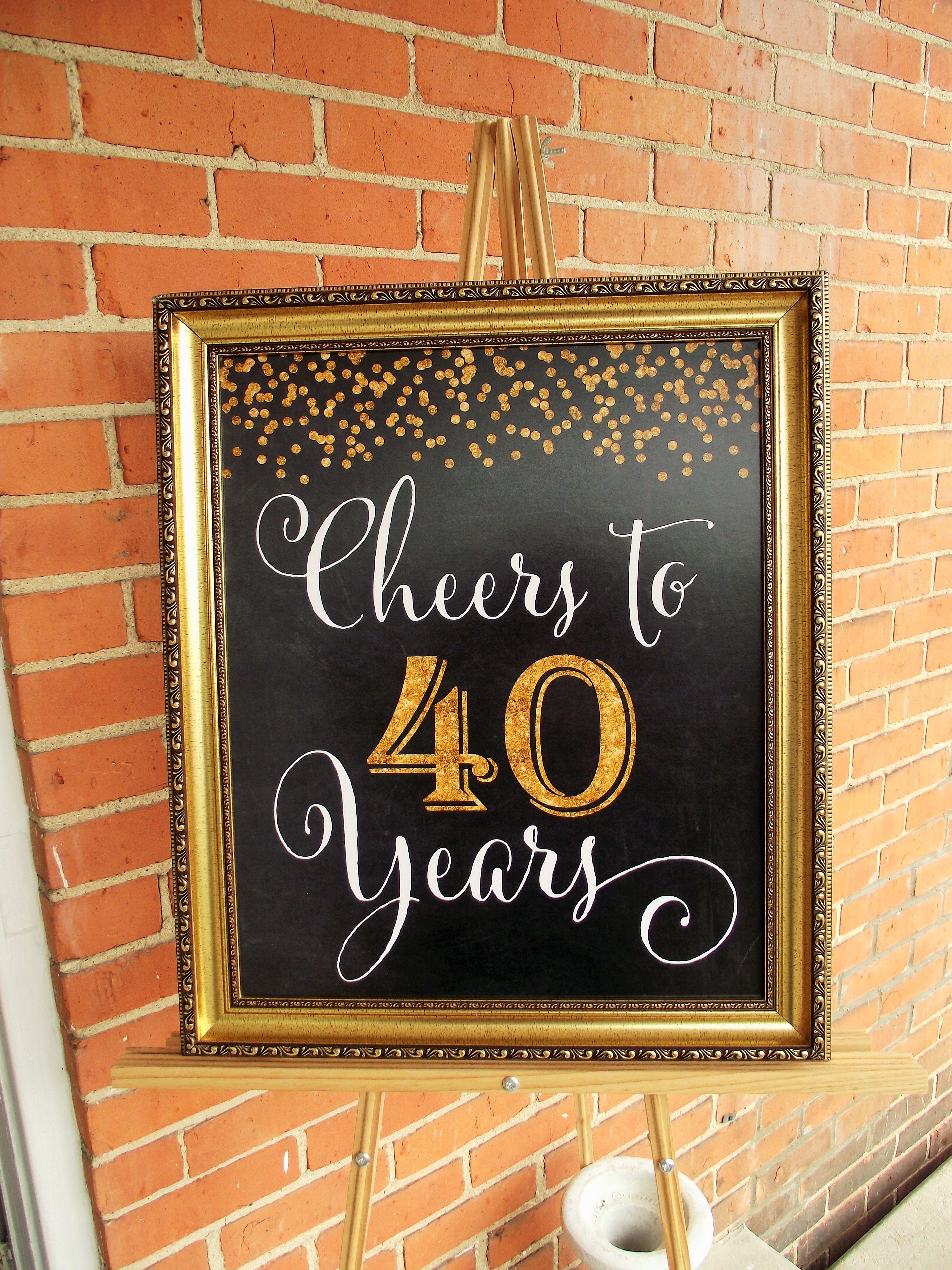 Decoration ideas for 40th wedding anniversary  th wedding anniversary party Cheers to  years  Life Styled