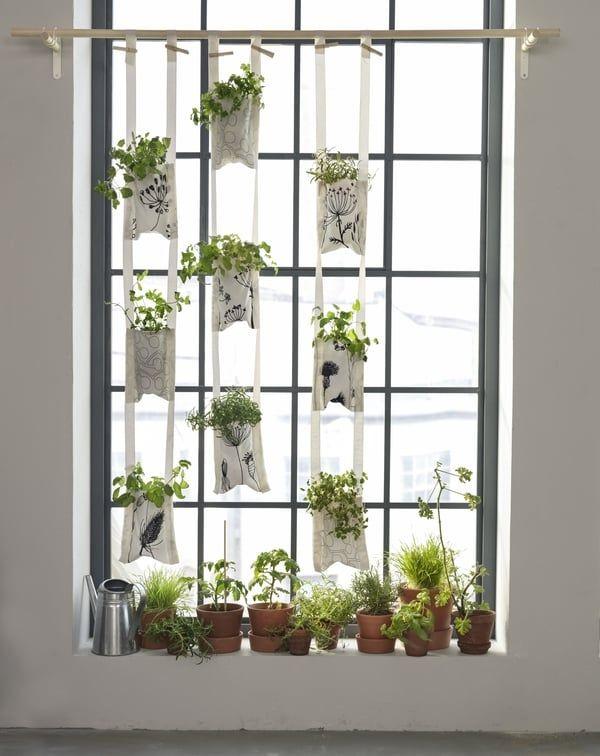 diy des jardini res suspendues en tissu ikea en 2019. Black Bedroom Furniture Sets. Home Design Ideas