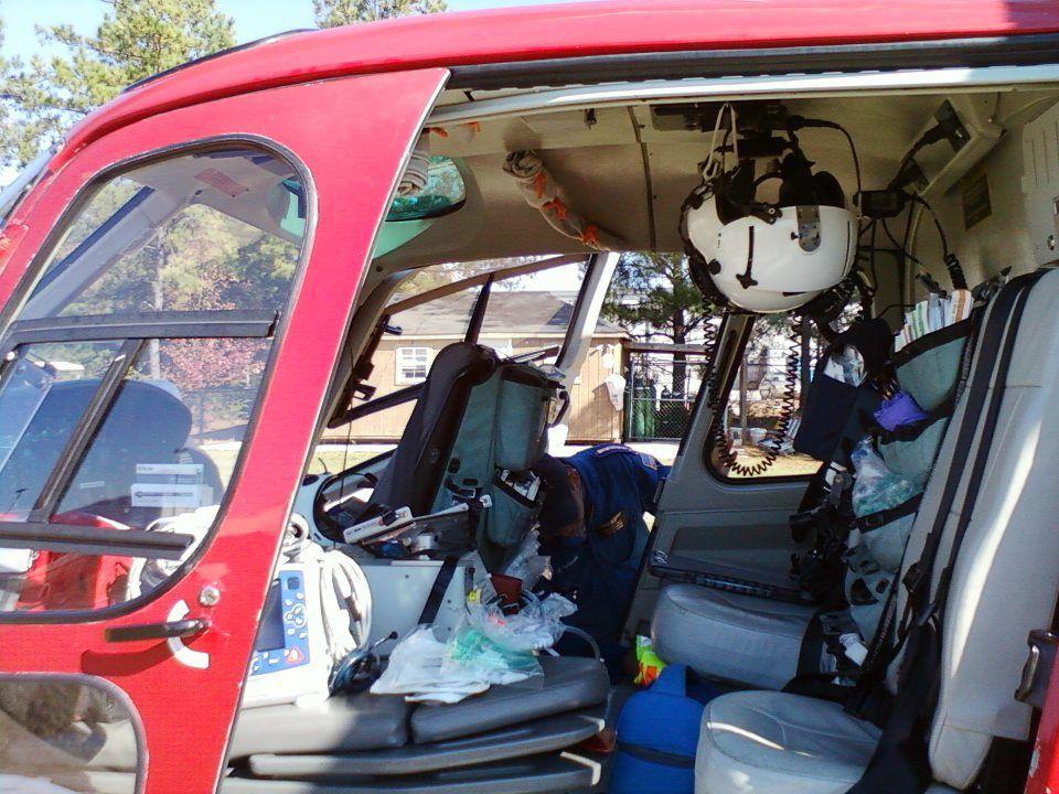 Inside a helicopter Flight nurse, Flight