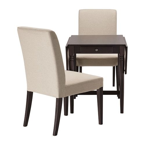 ingatorp stefan table and 2 chairs black brown ikea table solid wood and apartments. Black Bedroom Furniture Sets. Home Design Ideas