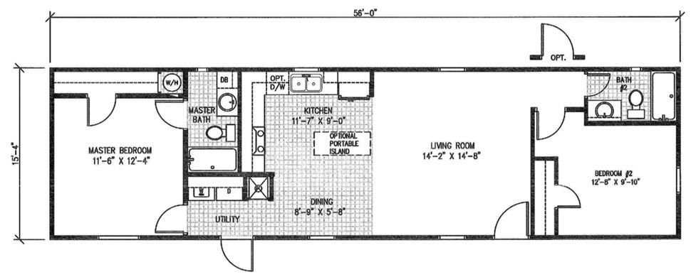 Single wide the aria floorplan shed house plans also in pinterest rh