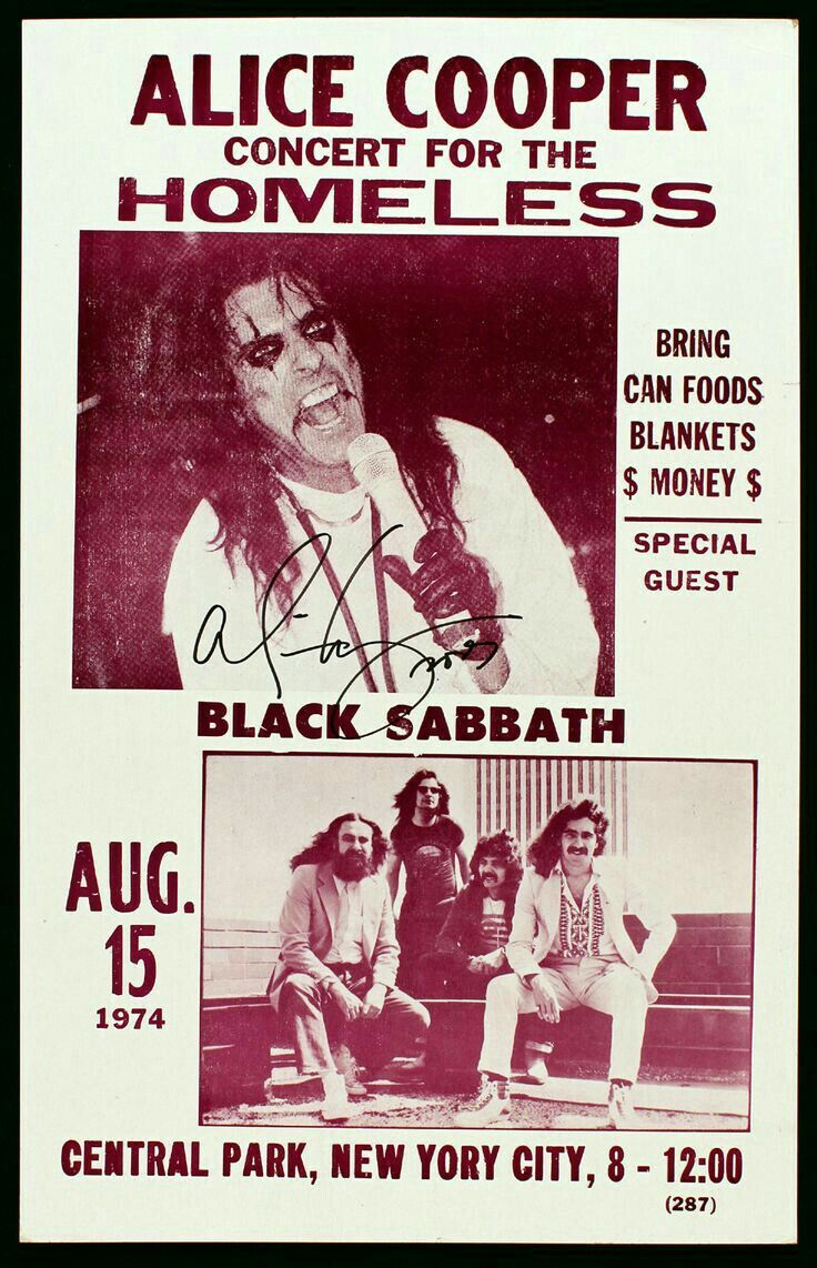 Pin By Leafhound On The Rock Black Sabbath Alice Cooper