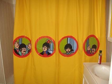 Yellow Submarine Shower Curtain Make Beatles Bathroom Cool