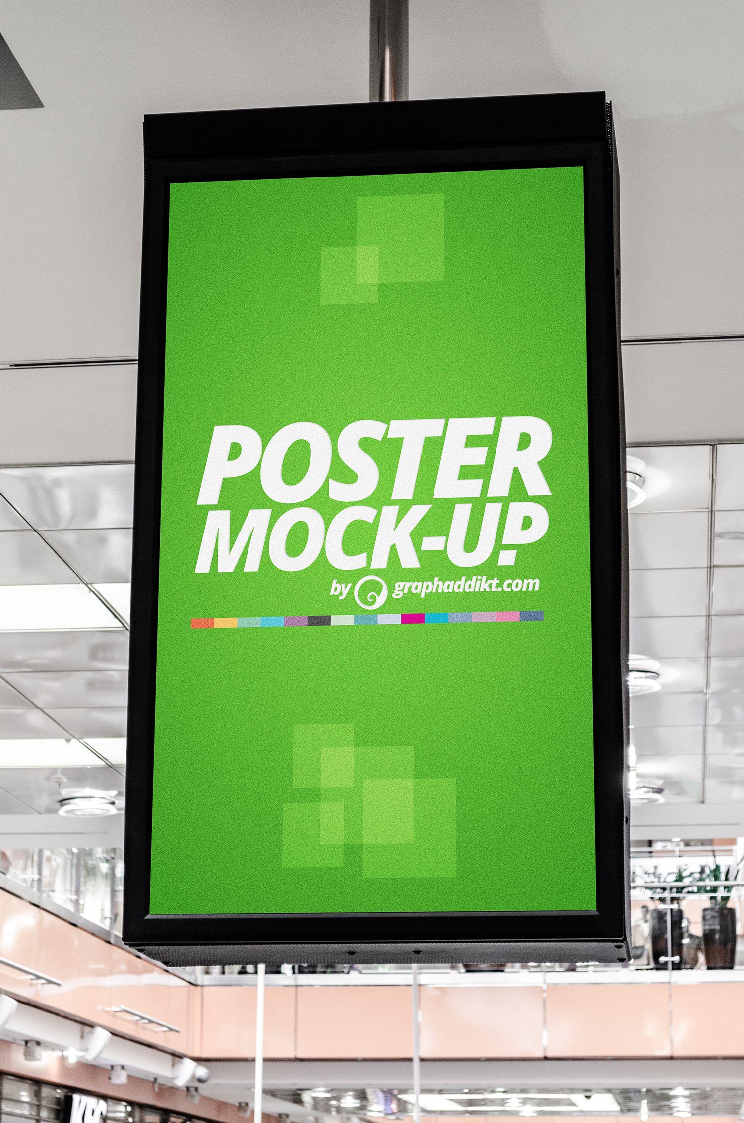 Free Indoor Advertising City Light Mockup Freemockup Mockup