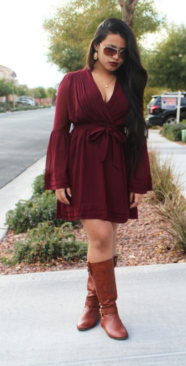 """Paula is wearing the Bell Curve dress from www.Fevrie.com! #FevrieFashion Use discount code """"franniepantz"""" between 2/17/15 and 2/28/15 for 15% off!"""