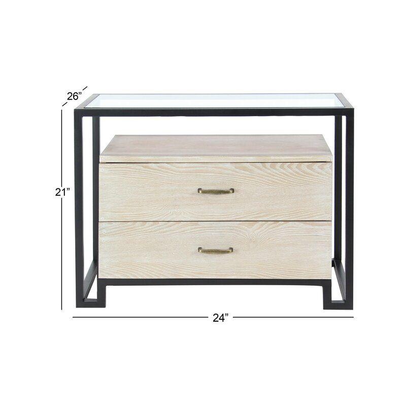 Darrel 2 Drawer Chest Allmodern Furniture Mirrored Furniture Modern Drawers