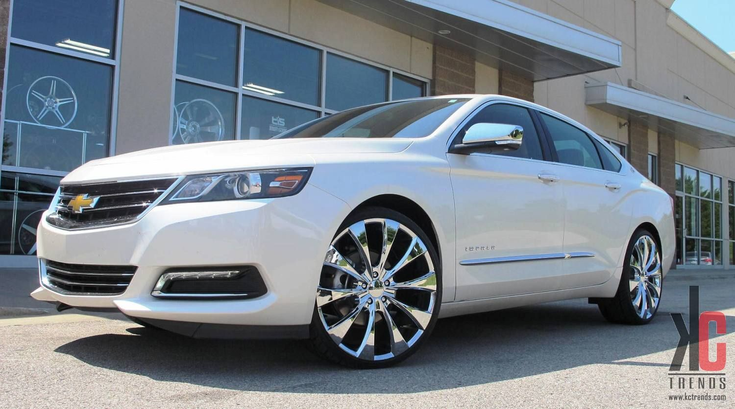 Silver 2015 Chevy Impala On 22 Rims Hover Or Click For Full