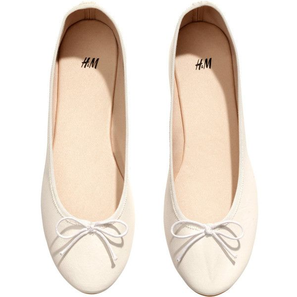 4e69e782b39 H M Ballet pumps ( 7.13) ❤ liked on Polyvore featuring shoes
