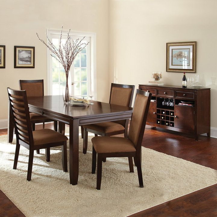 Branton Home Cornell 6 Piece Dining Buffet Set Dining Table