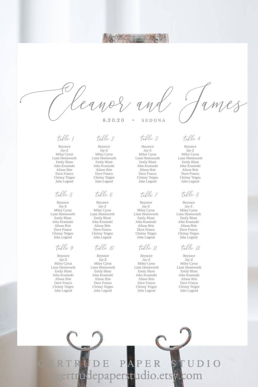 Calligraphy Wedding Seating Plan Sign Printable Seating Chart Etsy Seating Chart Template Seating Chart Wedding Reception Seating Chart Seating chart wedding template free