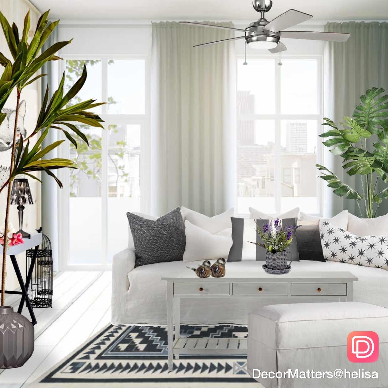 A Fresh And Airy Living Room Design By Our User Helisa Click