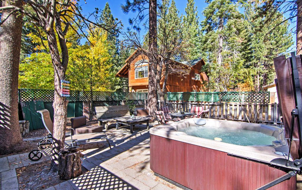 3br south lake tahoe house whot tub large patio
