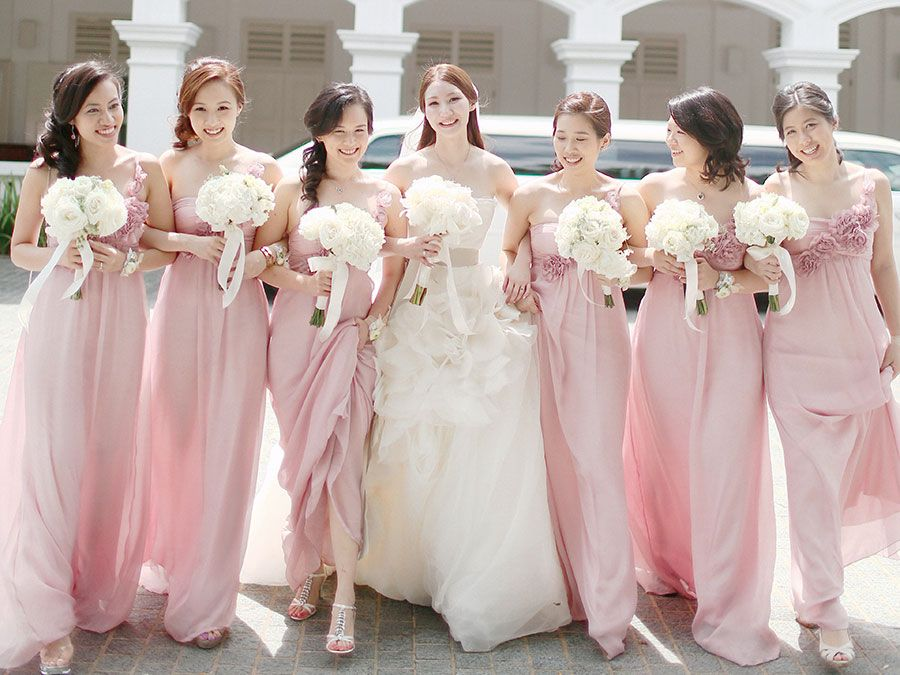 champagne bridesmaid dresses singapore