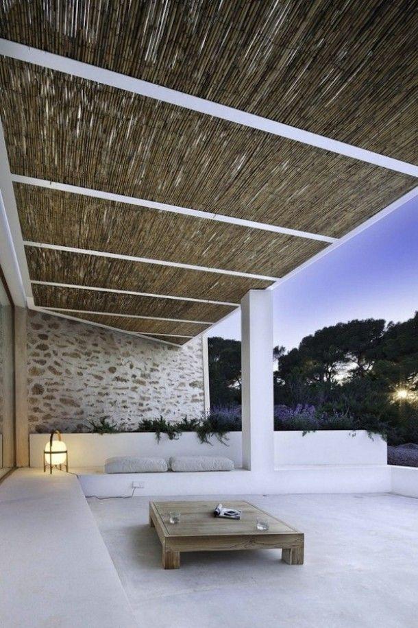 Tuin \ Terras Strakke loungehoek met prachtige terrasoverkapping - dachterrasse gestalten umweltfreundliche idee