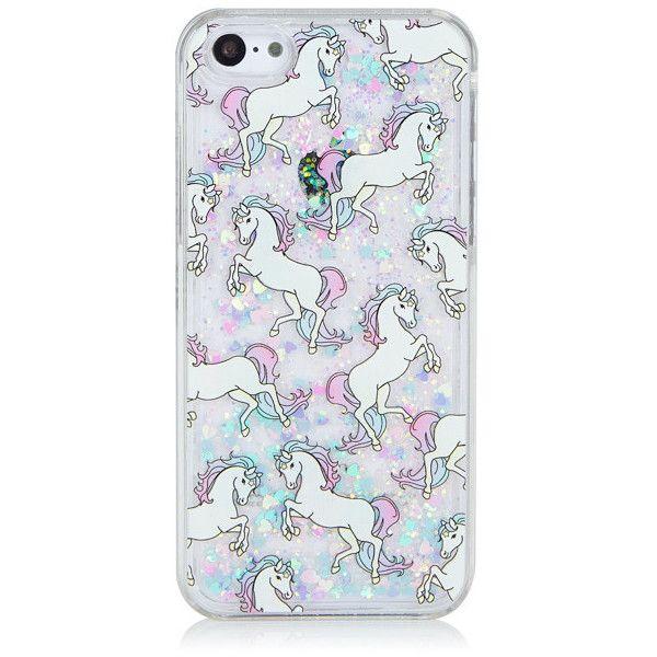 iPhone 5C Glitter Unicorn Case (€21) ❤ liked on Polyvore ...