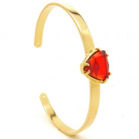 Bracelete dourado aro fininho semi-joia