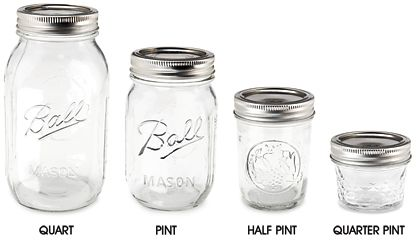 Canning Jars, Mason Jars & Ball Jars in Stock $1.20 per jar for 16 oz