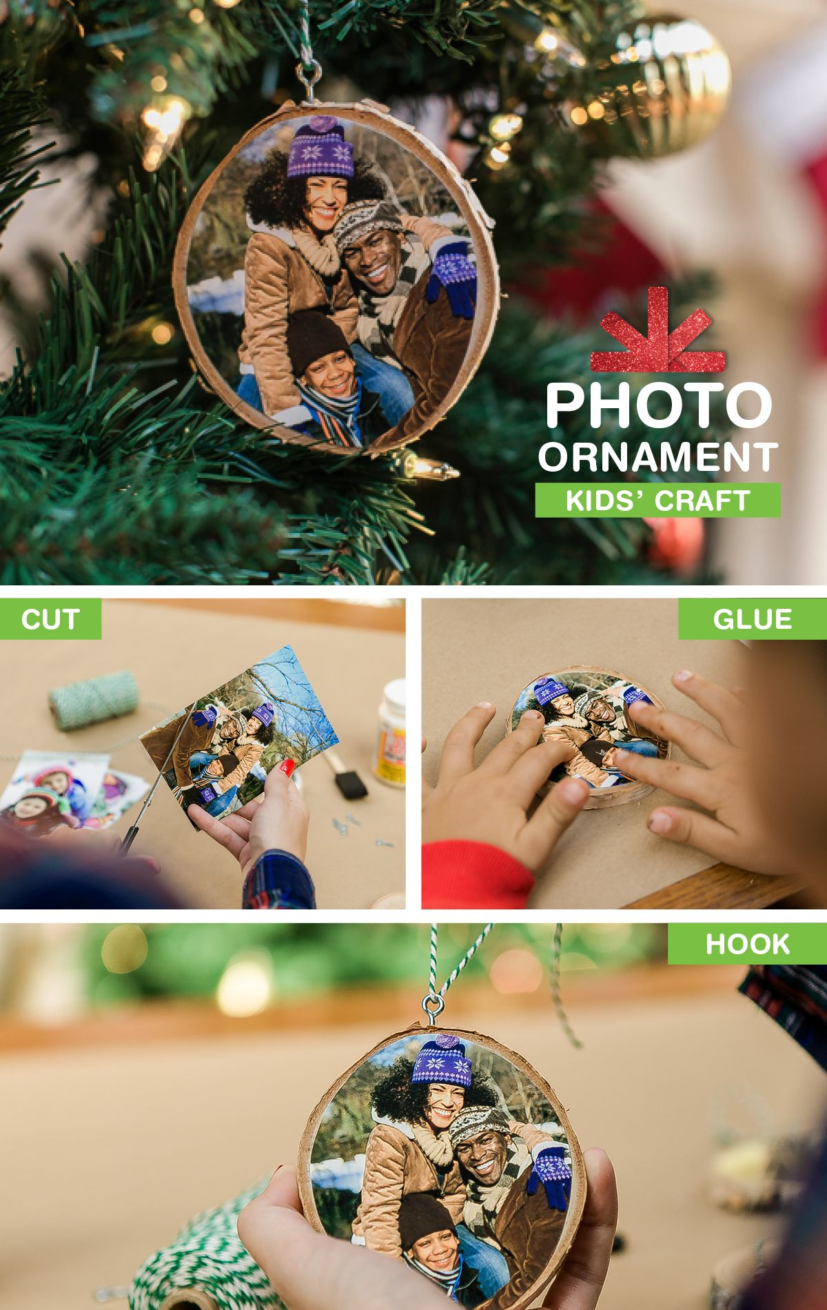 ideal for giving to parents and grandparents this diy photo ornament is easy for kids to create check out the tutorial on our smile blog