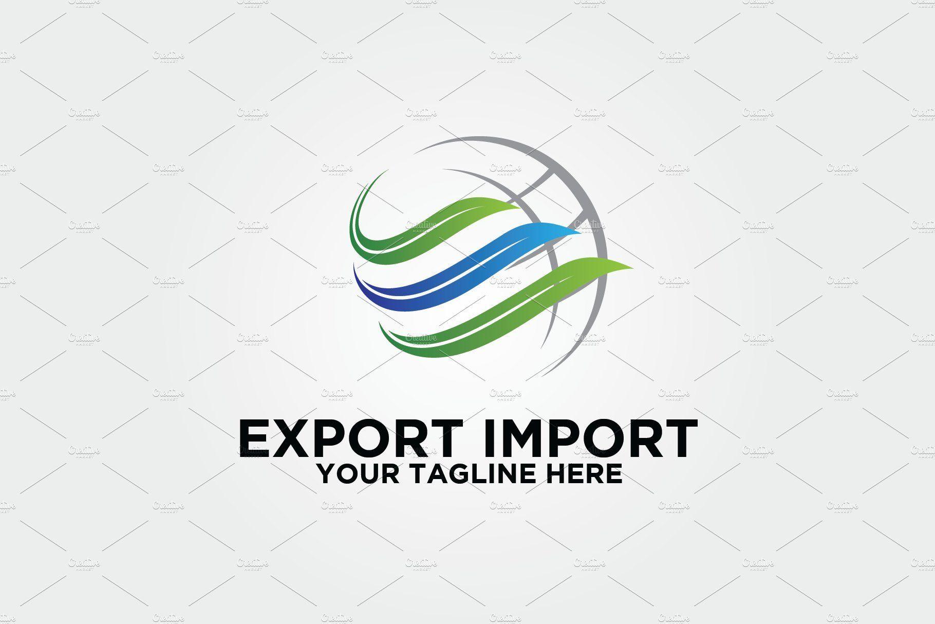 Export Import logistics logo Trade logo, Logos design