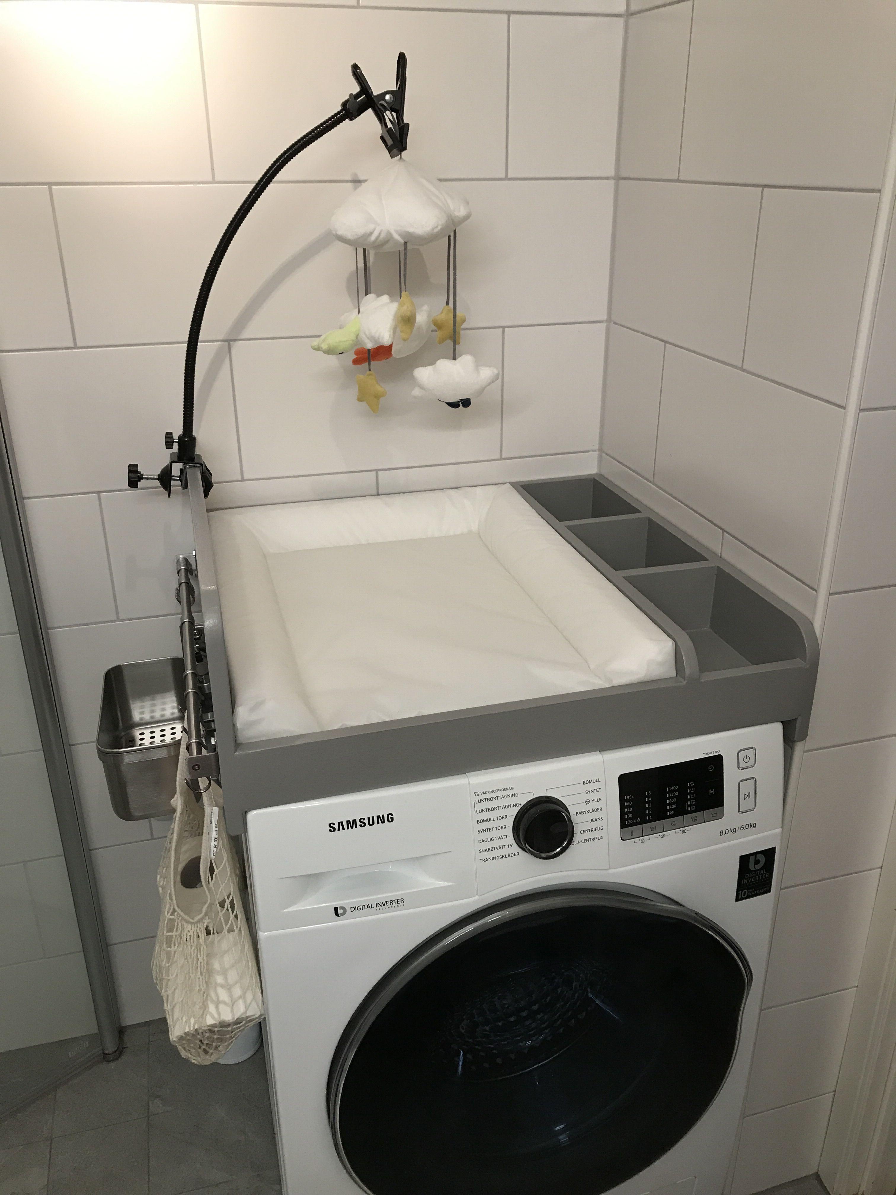 KraftKids Wickelaufsatz wei/ß passend f/ür alle Waschmaschinen oder Trockner
