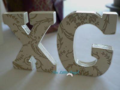 Letras Decoradas en tonos Camel y Piedra