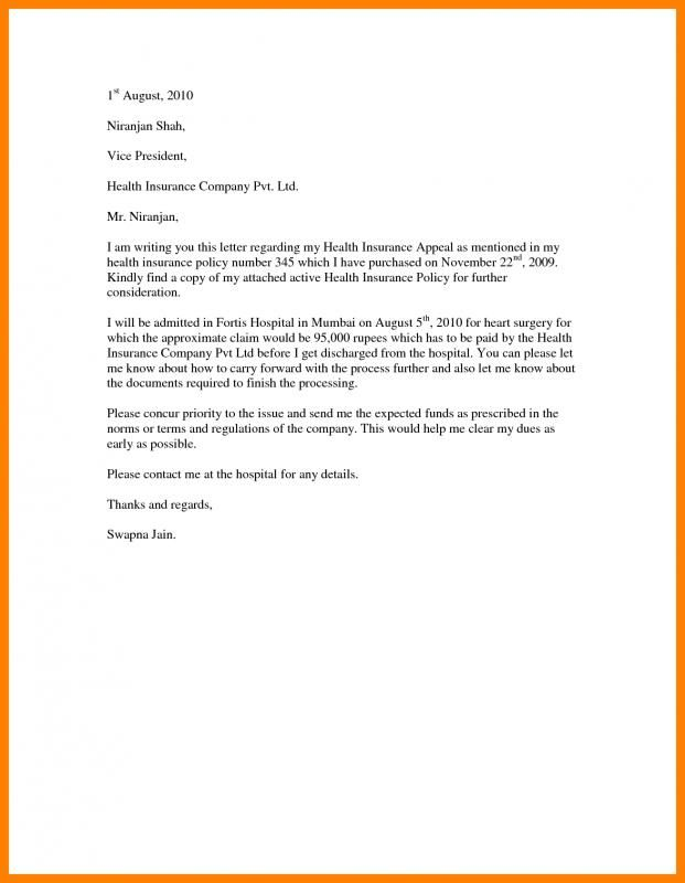 Insurance Appeal Letter | Health insurance companies ...