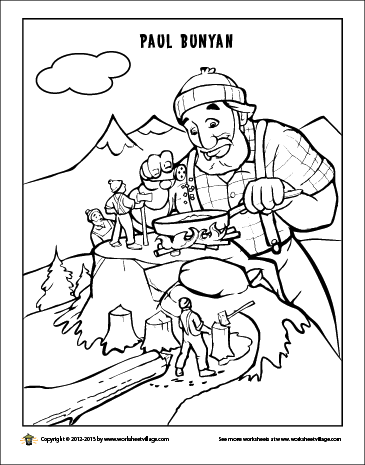 paul bunyan coloring pages kids - photo#14