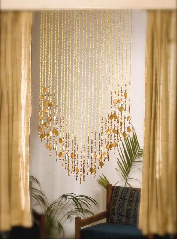 No Beads Gold Curtains Champagne Gold Basket Bead
