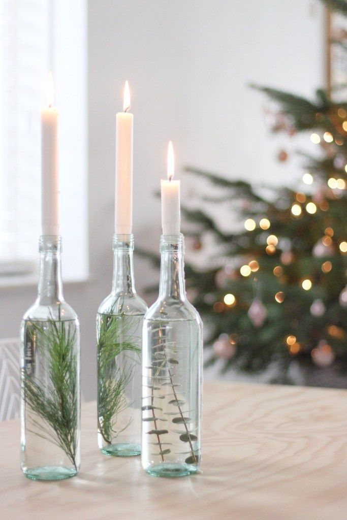 Simpele kerst DIY - #kerstdeco Simpele kerst DIY - #kerstbloemstukken