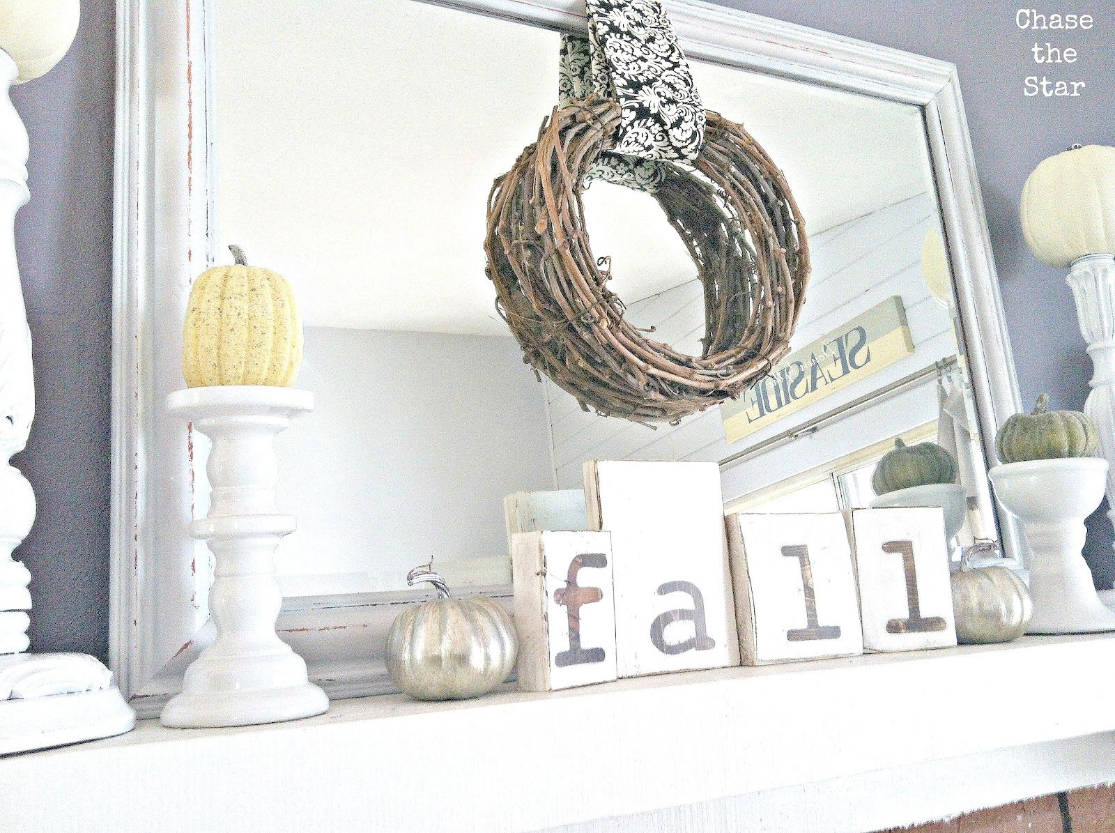 Chase the Star: Fall Mantel | Decorating | Pinterest | Mantels ...