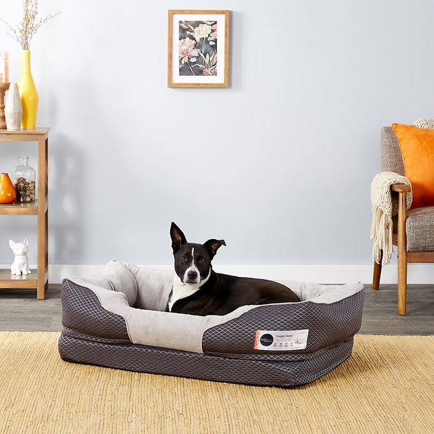 Buy BarksBar Snuggly Sleeper Orthopedic Dog Bed, Gray