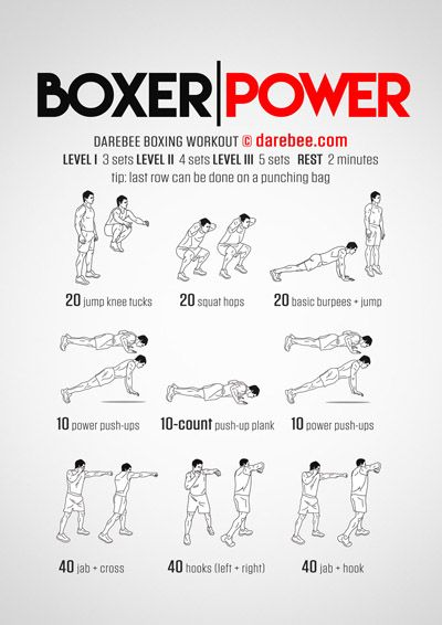 Boxer Power Workout Boxing Training Workout Boxing Workout Kickboxing Workout