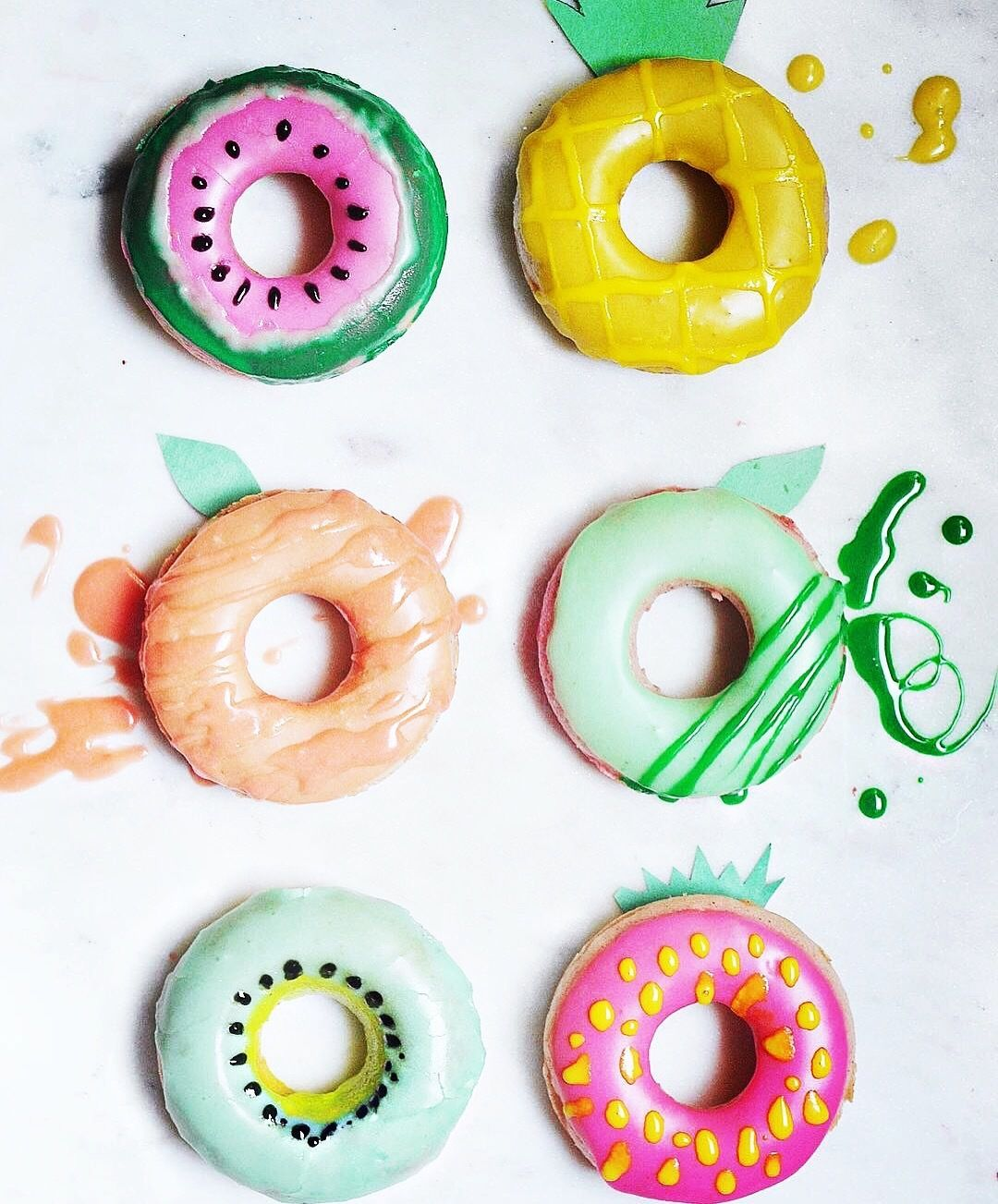 They look so pretty! If I see one of these donuts I'll just starve myself!