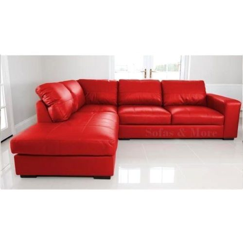Superieur NEW WESTPOINT   CORNER SOFA   FAUX LEATHER  RED   LEFT HAND SIDE  FAST