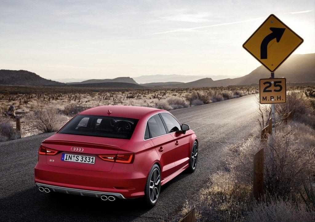 #Audi S3 Sedan 2015, con potencia de 300 CV que le permite conseguir 100kms/h en 5 segs.
