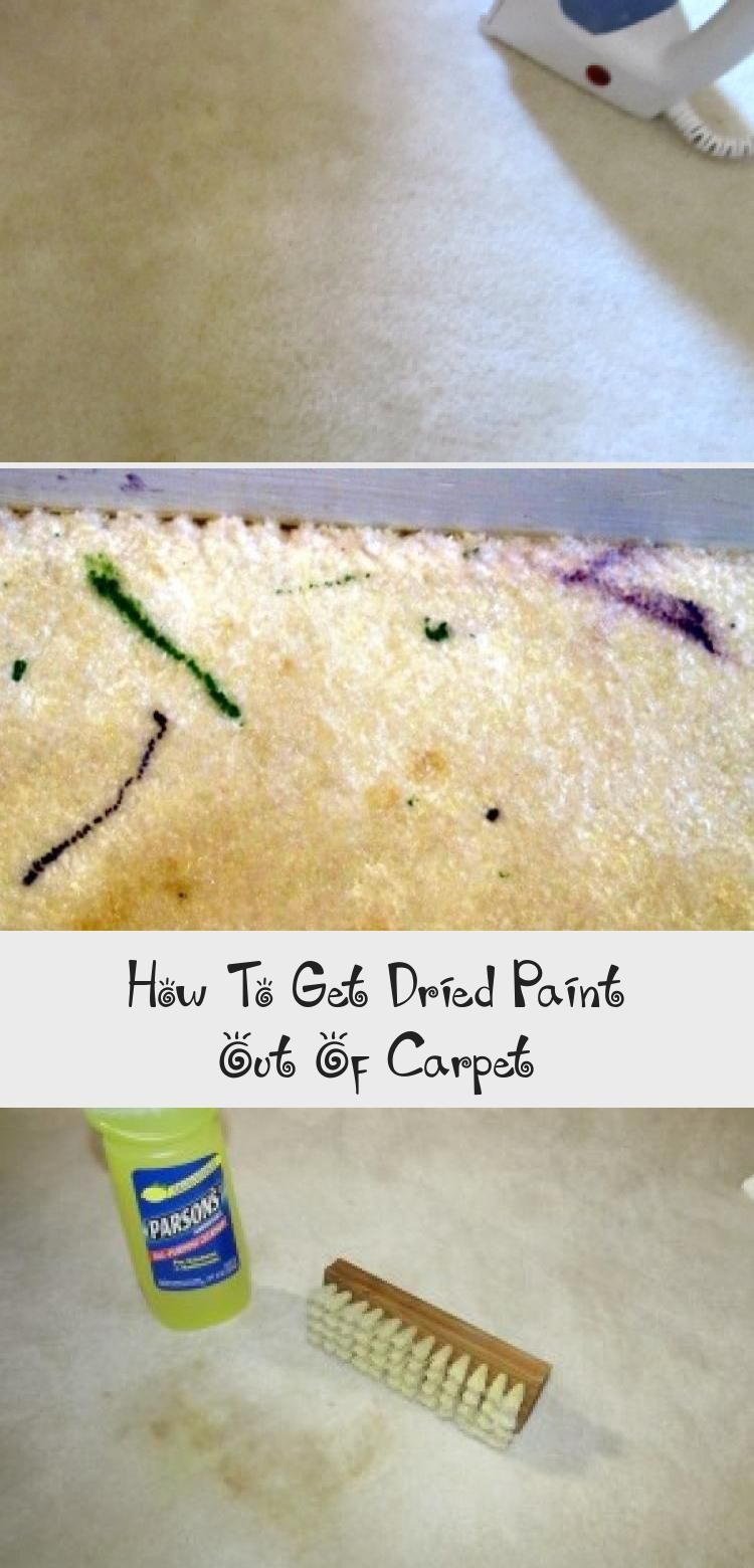 How To Get Dried Paint Out Of Carpet Diy Projects Can Get Messy These Steps Got Old Paint Out Of My Carpet Along With Other Myste How To Clean Carpet