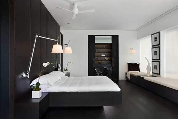 Contemporary Black And White Rooms In Elegant Penthouse With