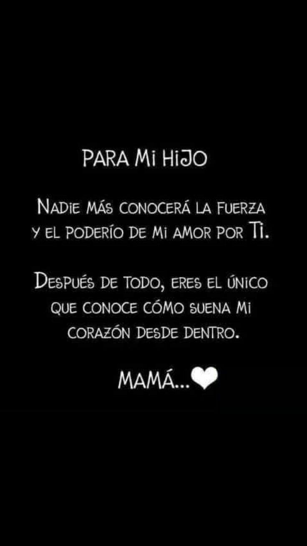 Te Amo Mami Frases Para Hijos Varones Frases Hijos