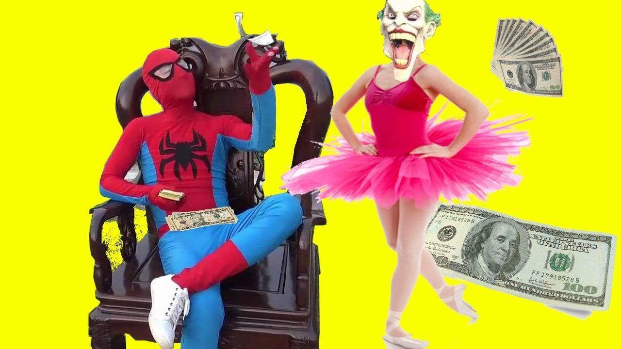 Joker Múa Bale Spiderman Triệu Phú Công Chúa Nhí Frozen