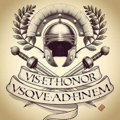 Strength And Honor Gladiator Tattoo Military Tattoos Gladiator