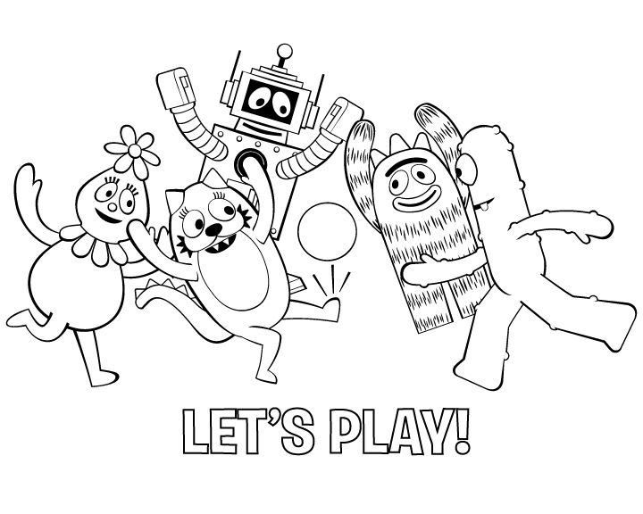 Coloring Page Football Coloring Pages Nick Jr Coloring Pages Yo Gabba Gabba
