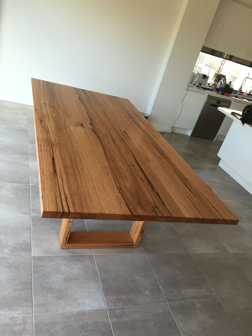 Wormy Chestnut Timber Dining Table