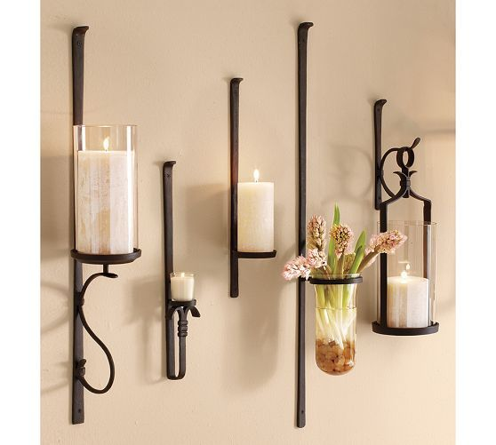 Artisanal Wall Mount Candle Holder Wall Candles Wall Mounted