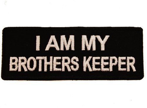 I Am My Brothers Keeper Gang Biker Club Clothing Or Gear Iron On Patch D9 Club Outfits Biker Clubs Brother